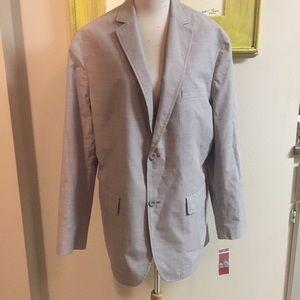 Alfani slim fit sportcoat cotton poly L 42-44 NWT